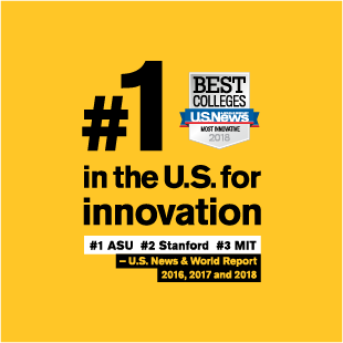Square-ASU is #1 in innovation for 2016, 2017 and 2018